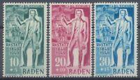 Französische Zone Baden, MiNr. 50-52, postfrisch / MNH - 601531