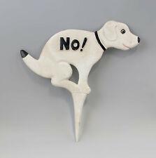 """9977552 Figur Eisenguss rustikal Hund """"No shit"""" für Garten"""