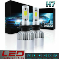 Pair H7 LED 6000K 72W 8000LM Headlight Power Bulb Conversion Kit High Low Beam