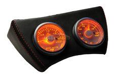 Porta strumenti specifico per Grande Punto rivestito pelle nera cuciture rosse