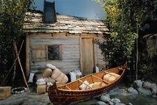 609023 trappeurs canoë en face de la cabine les commerçants de fourrure A4 papier photo
