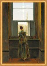 Frau am Fenster Deutsche Romantik Ausblick LW Caspar David Friedrich A1 017