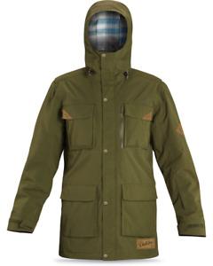 New Dakine Mansfield Snowboard Jacket Men's Large Cypress Green