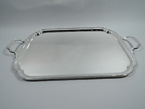 George VI Tray - Traditional Tea Serving - English Sterling Silver - Viner 1951