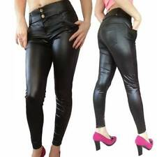 Leather Regular Size 30L Trousers for Women