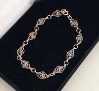 Sterling Silver 925 Filigree Bracelet Boho summer