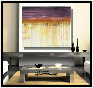PAINTING ABSTRACT Modern CANVAS WALL ART Large Framed Signed US ELOISExxx