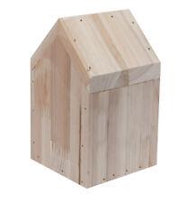 KJ COLLECTION Deko Haus aus hellem Holz, M: ca. 9,5 x 9,5 x 16 cm