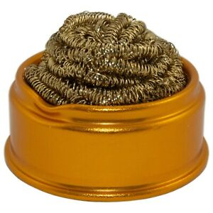 Soft Coiled Brass Soldering Iron Tip Cleaner Wire Sponge for Lead-Free Solder
