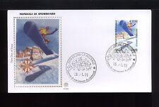 2001 ITALIA FDC FILIGRANO 15.1.2001  MONDIALI DI SNOWBOARD