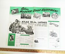 Atlas Machinery Modern Shop Equipment Fold Out Catalog Lathe Drill Press Milling