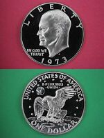 1973 S Cameo Proof Clad Eisenhower Ike BU Dollar Flat Rate Shipping