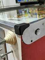 Custom Black Pair of Lockbar Corner End Caps for 1960s Gottlieb EM Pinballs