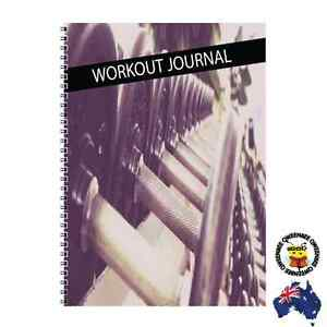 2x Gym Journal Workout Weight Lift Fitness Log Diary Tracker Personal Trainer c2