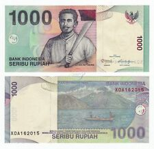 "INDONESIA 1000 1,000 Rupiah, ""X"" Prefix, Replacement, 2013, P-141, UNC"