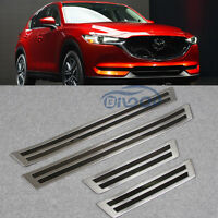 Fit Mazda CX-5 2017 2018 Stainless Steel Car Door Sill Outer Plate Molding Trims