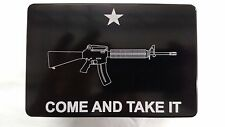 Come And Take It AR-15, Billet Aluminum Hitch Cover Plug, 4x6 Made In USA