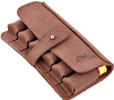 Tactical Pouch Hunting Buttstock Shotgun Shell Military Ammo Holder 6 12GA Brown