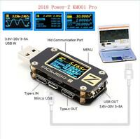 POWER-Z KM001 Pro USB PD QC3.0 QC2.0 Tester Voltage Current Type-C Meter