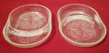 2 Jeannette Glass Harp Crystal W/Gold Rim Coasters🌟