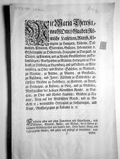 Maria Theresia röm. Kaiserin Jahr 1777 Erlaß z. Sachsen Gothaischen Silbermünze