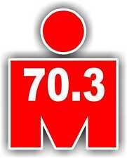 "2"" Iron MAN 70.3 Phone Decal Sticker Car Window bumper Running Jogging Marathon"