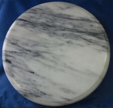 VINTAGE WHITE MARBLE REVOLVING CAKE STAND/CHEESE BOARD