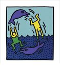 Keith Haring Untitled 1983 (Dolphins), Pop Art Poster