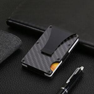 RFID Wallet Men Slim Small Carbon Fiber Credit Card Holder