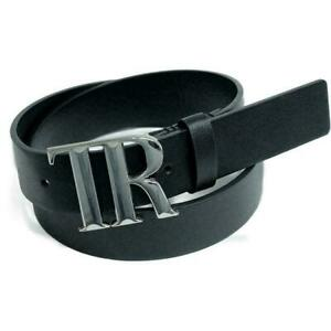 "Brand New True Religion Cain ""TR"" Men's Logo Buckle Adjustable Belt"