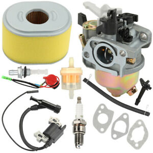 For Honda GX160 GX200 Carburetor Ignition Coil Air & Fuel Filter Tune Up Kit USA