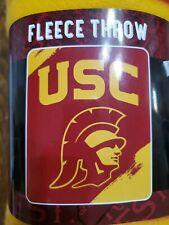 "USC Trojan 50""x60"" fleece blanket NIP"