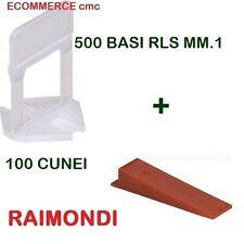 500 BASi RLS MM.1 + 100 CUNEI RLS RAIMONDI DISTANZIATORI LIVELLANTI BASE/CUNEO