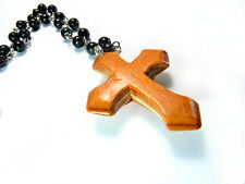 RECYCLED SKATEBOARD Wooden HANDMADE Cross Necklace Jewellery Cool Unusual Gifts