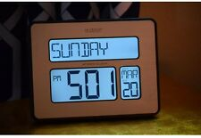 Simple Atomic Digital Wall Clock w Backlight Extra Large Numbers Back Light PM