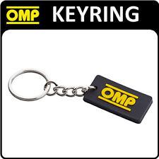 PR881 OMP Racing Rally ventilateur caoutchouc Porte-clés Porte-clés noir avec OMP LOGO!