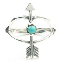 Bow And Arrow Ring, Sterling Silver Turquoise Arrow Ring, Boho, Bohemian, Gypsy