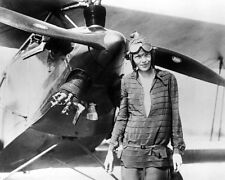 AMELIA EARHART BEFORE TRANS-ALANTIC FLIGHT 8x10 SILVER HALIDE PHOTO PRINT