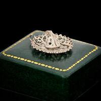 Antique Vintage Nouveau Sterling 800 Silver Portugese Filigree Hat Charm Pendant