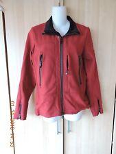 Victorinox women red 81%nylon 19%spendex softshell w/polyester backing jacket M