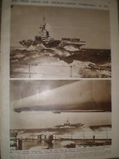 Photo article British navy aircraft carrier HMS Formidable at sea 1942 ref AQ