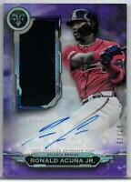 2019 Topps Triple Threads Ronald Acuna Auto Jumbo Relic Signed Insert SSP #7/75