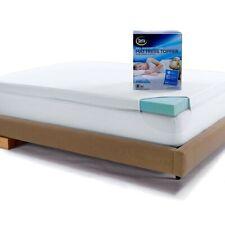 """Memory Foam Mattress Topper King 3"""" Gel Foam Bed Cooling w/ Cotton Cover Serta"""