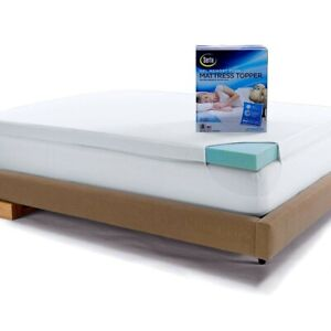 "Memory Foam Mattress Topper Twin 3"" Gel Foam Bed Cooling w/ Cotton Cover Serta"