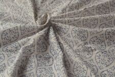 1 Yard White Coloured  Indian Hand Made Block Fabric 100 % Cotton Crafting