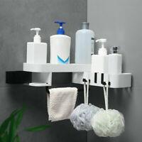 Bathroom Shower Caddy Shelf Corner Wall Mount Rack Storage Holder No punching