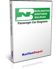 Burlington Northern Passenger Car Diagrams - PDF on CD - RailfanDepot