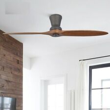 LED Wooden Ceiling Fan With Lights Modern Without Light Decorative Fan Lamp