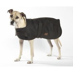 New Burke & Wills Pet Dog Oilskin Dog Coat Wool Lining Warm Dry Winter Coats