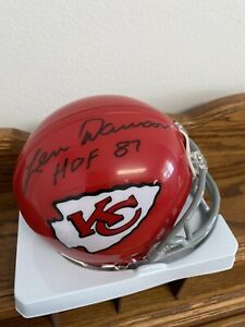 Len Dawson Signed Kansas City Chiefs Mini Helmet with COA